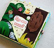 """Куклы и игрушки ручной работы. Ярмарка Мастеров - ручная работа Развивающая книжка """"Где моя мама?"""". Handmade."""
