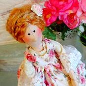 """Куклы и игрушки ручной работы. Ярмарка Мастеров - ручная работа Мини грелочка на чашку """"Цветочница """". Handmade."""
