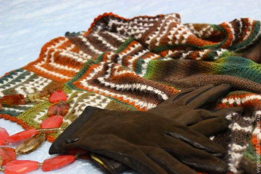 Шали, палантины ручной работы. Ярмарка Мастеров - ручная работа. Купить шаль ЗАНИМАТЕЛЬНАЯ ГЕОМЕТРИЯ. Handmade. Разноцветный, подарок женщине