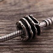"""Украшения ручной работы. Ярмарка Мастеров - ручная работа """"Веретено"""" серебряная бусина для браслетов. Handmade."""
