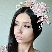 Украшения handmade. Livemaster - original item Silk flowers Headband rose Suevite. Handmade.