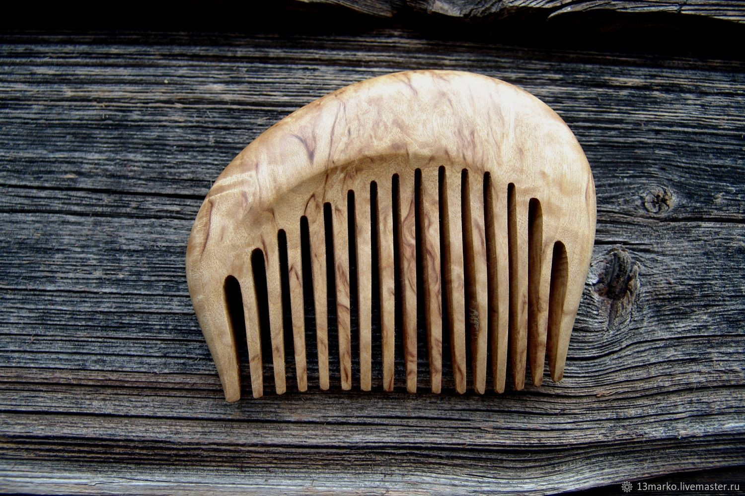 The comb is made of Karelian birch, Combs, Moscow,  Фото №1