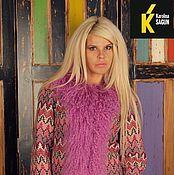 Одежда ручной работы. Ярмарка Мастеров - ручная работа Куртка трикотаж миссони с отделкой ламой розово-лавандовой. Handmade.