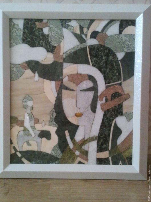 Абстракция ручной работы. Ярмарка Мастеров - ручная работа. Купить Картины из природного камня    МонаЛиза. Handmade. Мозаика, картина в подарок