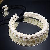 Украшения handmade. Livemaster - original item Bracelet made of snake vertebrae