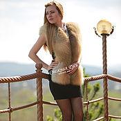Одежда handmade. Livemaster - original item Fur vest Finnish red foxes. Handmade.