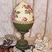 """Подарки к праздникам ручной работы. Ярмарка Мастеров - ручная работа """"Пасхальный сувенир"""" декоративное яйцо. Handmade."""