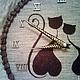 """Часы для дома ручной работы. Часы из кофе """"Кошки. Хвостики-завитки"""". Dasha Iva (кофейные иероглифы). Интернет-магазин Ярмарка Мастеров."""