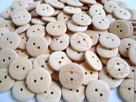 Шитье ручной работы. Ярмарка Мастеров - ручная работа. Купить Пуговицы деревянные с рисунком. Handmade. Пуговицы, пуговицы декоративные