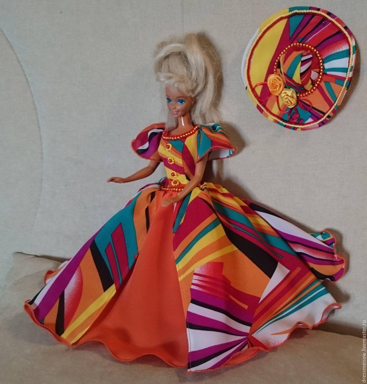 Платья для кукол барби своими руками для начинающих из ткани