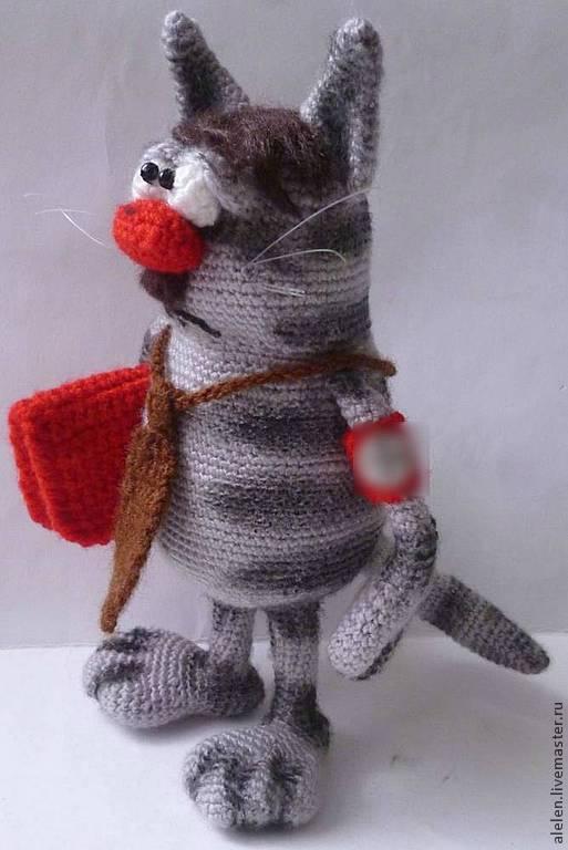 Обучающие материалы ручной работы. Ярмарка Мастеров - ручная работа. Купить Мастер-класс по вязанию крючком. Шаржевый котик. Handmade.