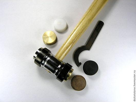 Для украшений ручной работы. Ярмарка Мастеров - ручная работа. Купить Молоток ювелирный со сменными рабочими поверхностями (5 типов, 25 см). Handmade.