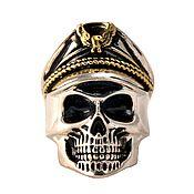 handmade. Livemaster - original item Ring Skull in cap number 8 steel. Handmade.