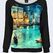 """Одежда ручной работы. Ярмарка Мастеров - ручная работа Трикотажный свитшот на одно плечо """"Венеция"""". Handmade."""