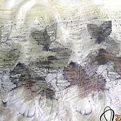 """Аксессуары ручной работы. Ярмарка Мастеров - ручная работа Шарф """"Гармония"""" - шелк, экопринт, натуральное крашение. Handmade."""