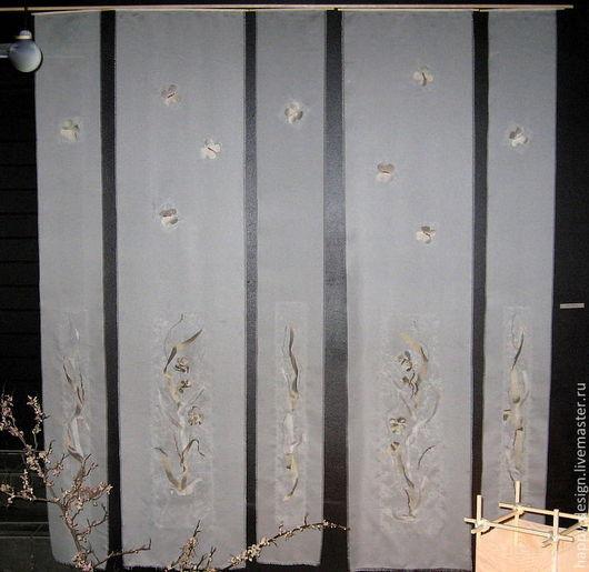 """Картины цветов ручной работы. Ярмарка Мастеров - ручная работа. Купить """"Полет бабочки"""" панно. Handmade. Япония, панно на шёлке"""