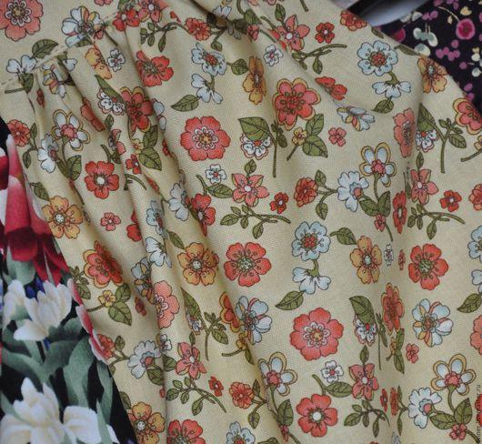 """Юбки ручной работы. Ярмарка Мастеров - ручная работа. Купить Юбка """"Полевые цветы на светлом фоне"""". Handmade. Комбинированный, юбочка"""