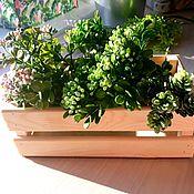 Для дома и интерьера handmade. Livemaster - original item Wooden decorative box 15 by 45 by 10 cm, flower pots, decor. Handmade.