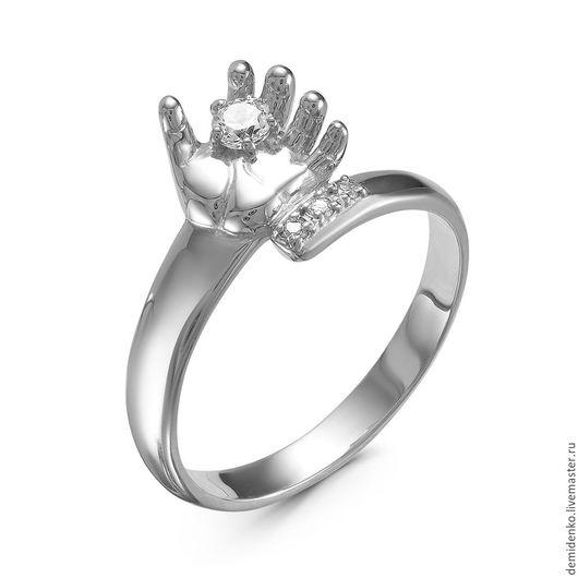 """Кольца ручной работы. Ярмарка Мастеров - ручная работа. Купить Кольцо """"Ручка младенца"""". Handmade. Серебряный, кольцо, кольцо с камнями"""