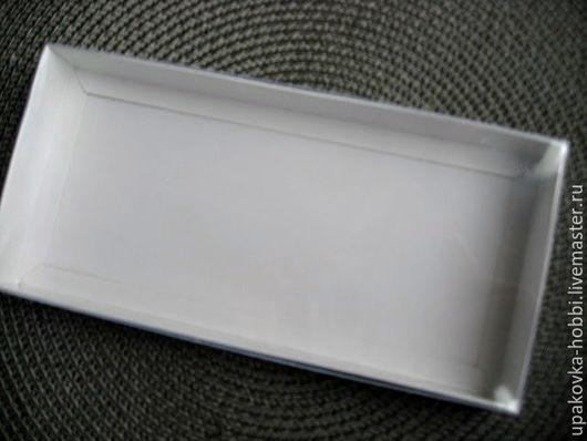 Коробка упаковочная картонная с прозрачной крышкой  21х10х2.5см. Коробка картонная, крышка пластик.Упаковка для подарков. Коробки для подарков, коробки для пряников.