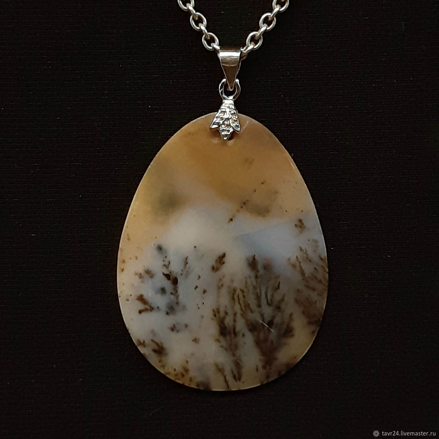 pendant №16. Chalcedony, an agate, agate Moholy, Pendant, St. Petersburg,  Фото №1