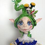 Куклы и игрушки ручной работы. Ярмарка Мастеров - ручная работа Кукла Люсинда - интерьерная кукла-эльфа. Handmade.