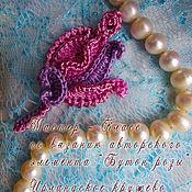 Материалы для творчества handmade. Livemaster - original item Irish lace. Master Class on knitting rosebud. Handmade.