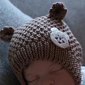 """Работы для детей, ручной работы. Ярмарка Мастеров - ручная работа Шапочка для новорожденных """" Мишка"""". Handmade."""
