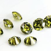 Материалы для творчества handmade. Livemaster - original item The olive cubic Zirconia 4 mm, 10 pieces, art. 7-51. Handmade.