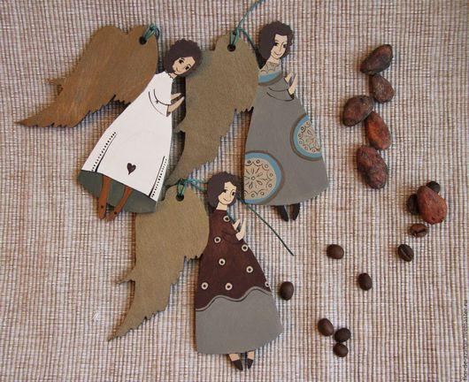 Новый год 2017 ручной работы. Ярмарка Мастеров - ручная работа. Купить Ангелы шоколадные. Handmade. Ангел, рождество, рождественский подарок