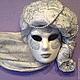 """Интерьерные  маски ручной работы. Заказать Интерьерная венецианская маска """"La Perla"""". Елена. Ярмарка Мастеров. Маска, интерьерная композиция"""