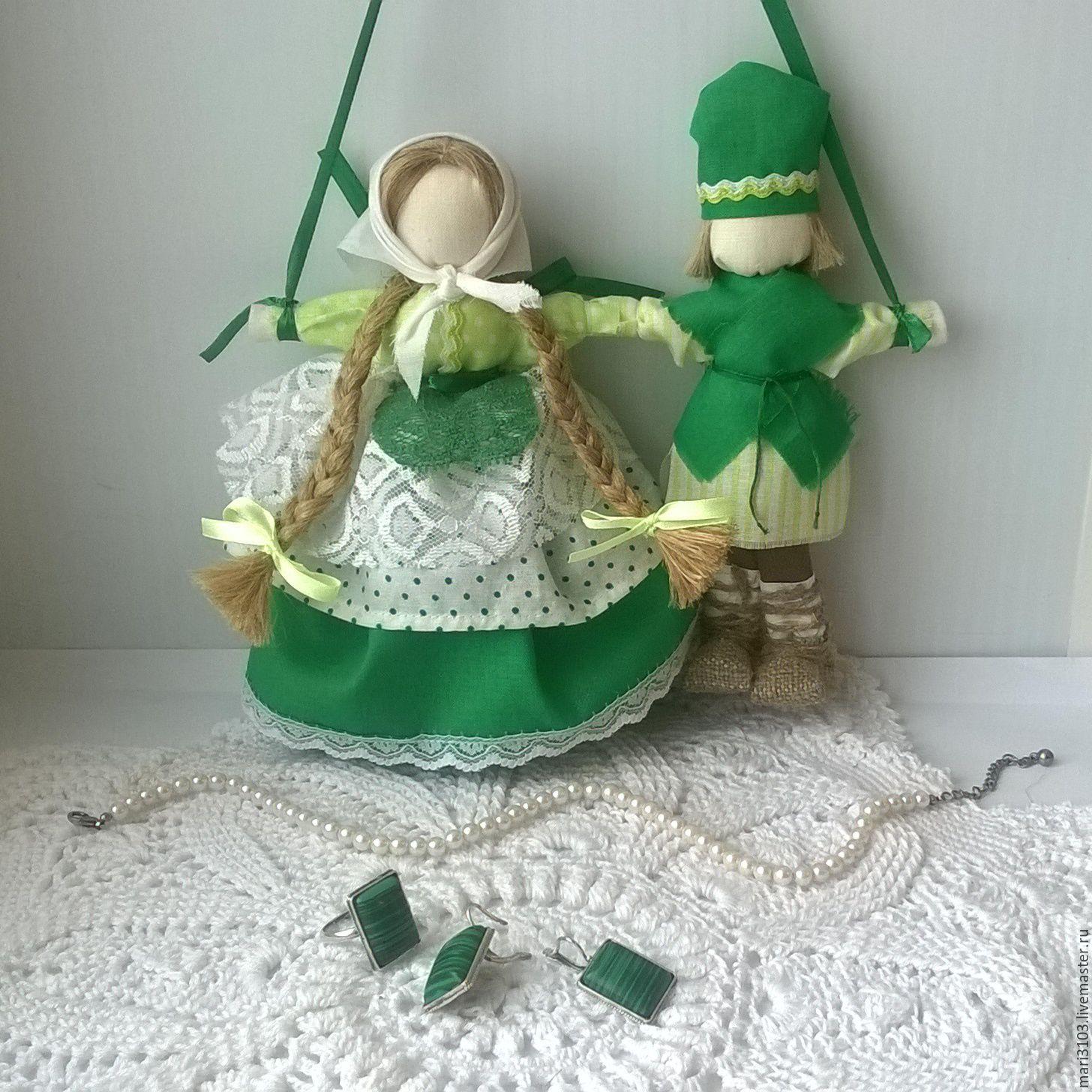 lovebird green wedding doll, Folk Dolls, Vyazma,  Фото №1