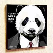 Картины и панно handmade. Livemaster - original item Painting Pop Art Business Panda. Handmade.