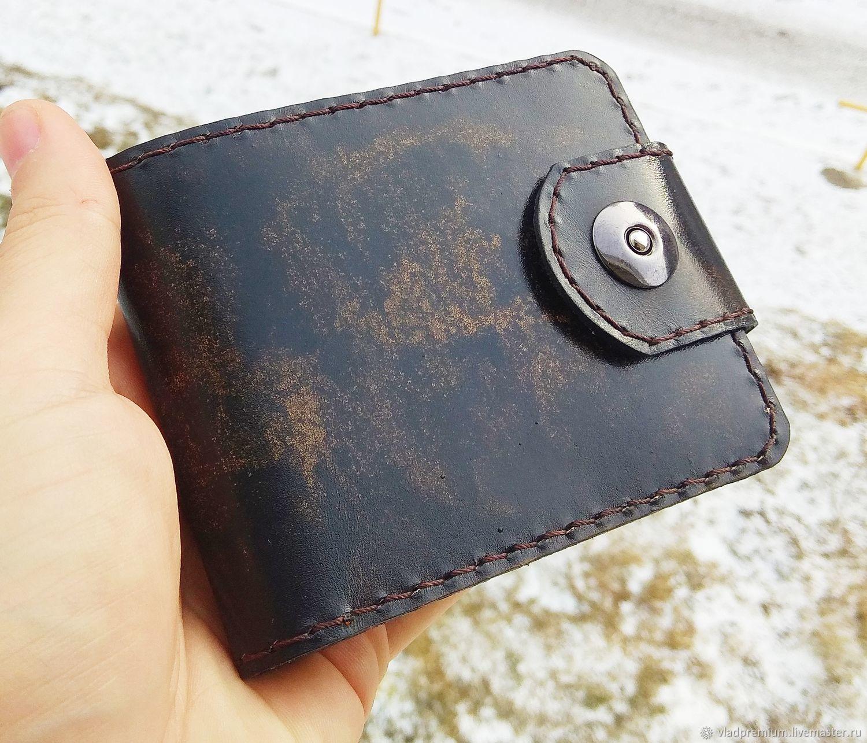 Мужской кошелек из натуральной кожи, Кошельки, Владивосток,  Фото №1