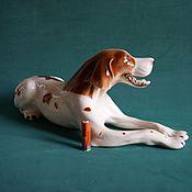 Подарки к праздникам ручной работы. Ярмарка Мастеров - ручная работа Фарфоровая собака большая пойнтер Европа. Handmade.