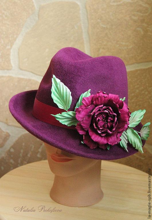 """Шляпы ручной работы. Ярмарка Мастеров - ручная работа. Купить Весенняя шляпа """"La Soiree a Bordeaux"""" (Вечер в Бордо). Handmade."""
