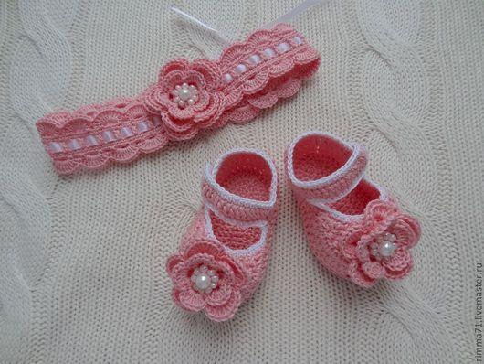 """Для новорожденных, ручной работы. Ярмарка Мастеров - ручная работа. Купить Комплект """"Для принцессы"""". Handmade. Розовый, подарок"""