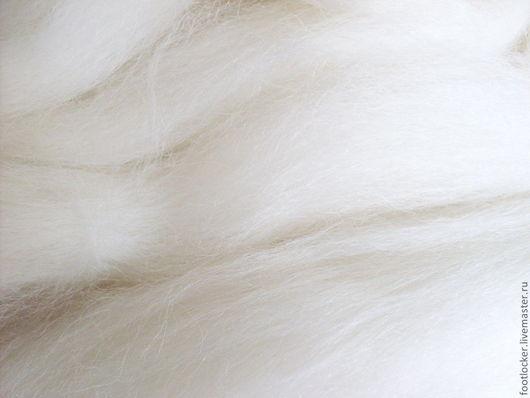 Валяние ручной работы. Ярмарка Мастеров - ручная работа. Купить Шерсть для валяния Альпака (Alpaka), Белый, 50 гр.. Handmade.