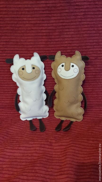 Игрушки животные, ручной работы. Ярмарка Мастеров - ручная работа. Купить Овечка - Игрушка из натуральной кожи. Handmade. Оригинальный подарок