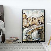 Картины и панно handmade. Livemaster - original item Oil painting on canvas Amsterdam (abstraction beige white ). Handmade.