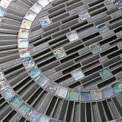 """Для дома и интерьера ручной работы. Ярмарка Мастеров - ручная работа """"Бусы цвета морской волны"""" стол с мозаикой. Handmade."""
