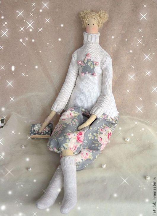 Куклы Тильды ручной работы. Ярмарка Мастеров - ручная работа. Купить Тильда Зимняя куколка. Handmade. Белый, интерьерная кукла