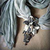Аксессуары ручной работы. Ярмарка Мастеров - ручная работа Шарф-колье Туман в Сорренто. Handmade.