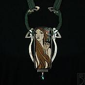 Necklace handmade. Livemaster - original item necklace Mucha Art Nouveau. Handmade.