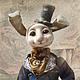 Коллекционные куклы ручной работы. Ярмарка Мастеров - ручная работа. Купить Эдвард (по мотивам белого кролика). Handmade. Разноцветный