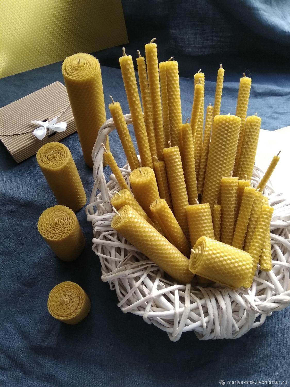 Свечи ручной работы. Ярмарка Мастеров - ручная работа. Купить Свечи из вощины. Handmade. Свечи, сувениры и подарки, пасхальный набор