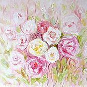 """Картины и панно ручной работы. Ярмарка Мастеров - ручная работа Картина """"Танец розовых лепестков"""". Handmade."""