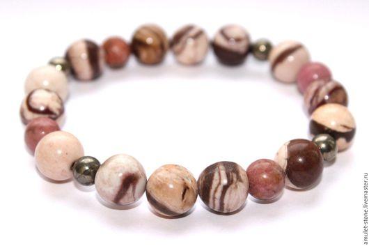 Браслет с яшмой Капучино, из натуральных камней. Стильный браслет, натуральные камни, ручная работа, Ярмарка мастеров, Handmade. Купить авторские украшения магазина Amulet-Stone