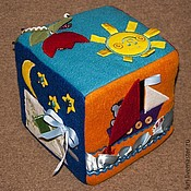 Куклы и игрушки ручной работы. Ярмарка Мастеров - ручная работа Развивающий кубик. Handmade.