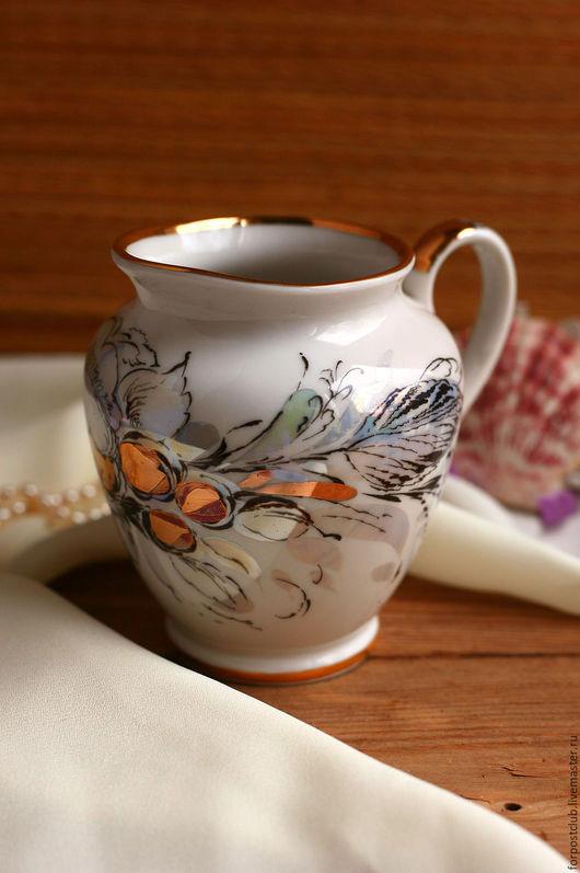 Винтажная посуда. Ярмарка Мастеров - ручная работа. Купить Молочник ЛФЗ Жемчужный. Handmade. Комбинированный, сливочник, купить, винтаж, стиль